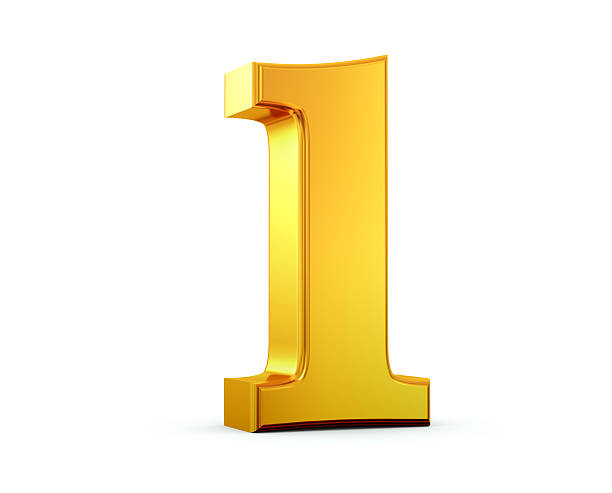 gold number 1 - number 1 stock pictures, royalty-free photos & images