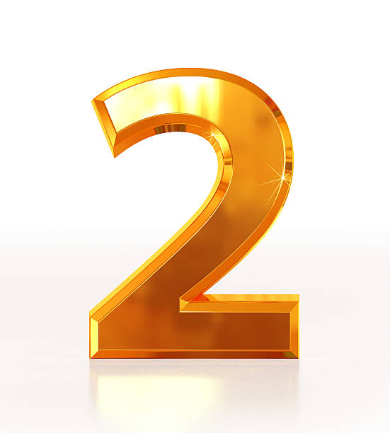 Gold Number 2 stock photo