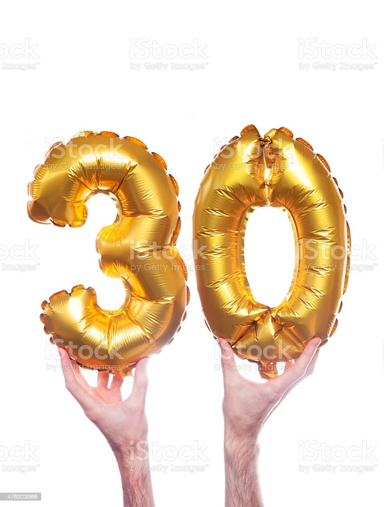 30 los globos de oro - foto de stock