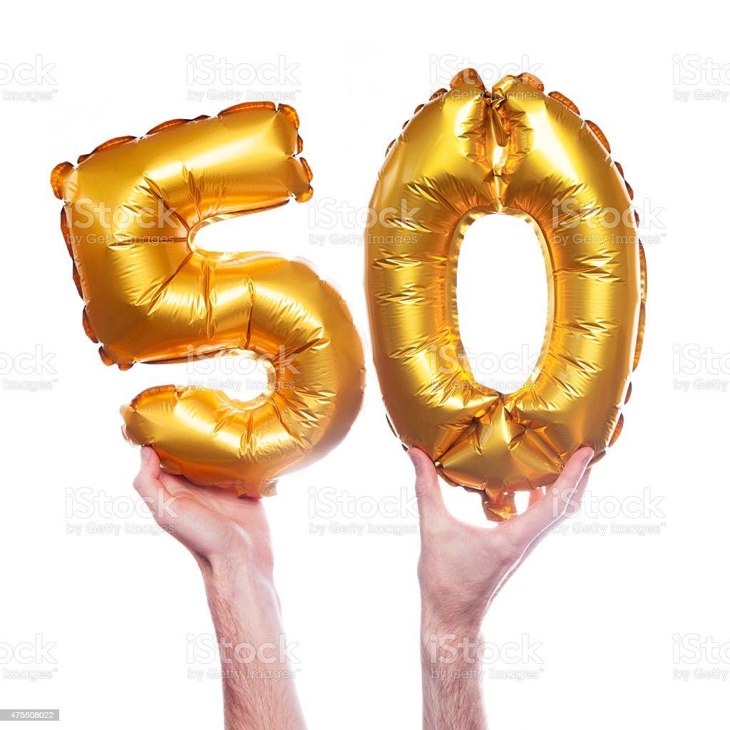 Gold Zahl 50 Ballons – Foto