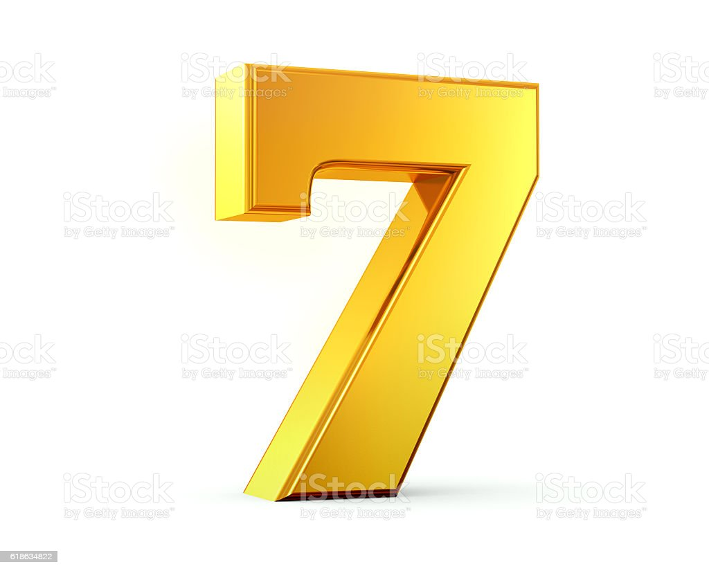 gold number 7 stock photo  u0026 more pictures of bright