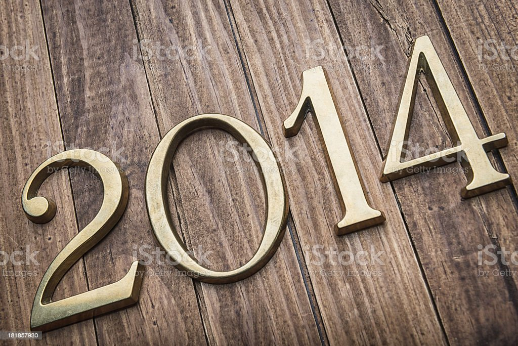 2014 gold numbers stock photo
