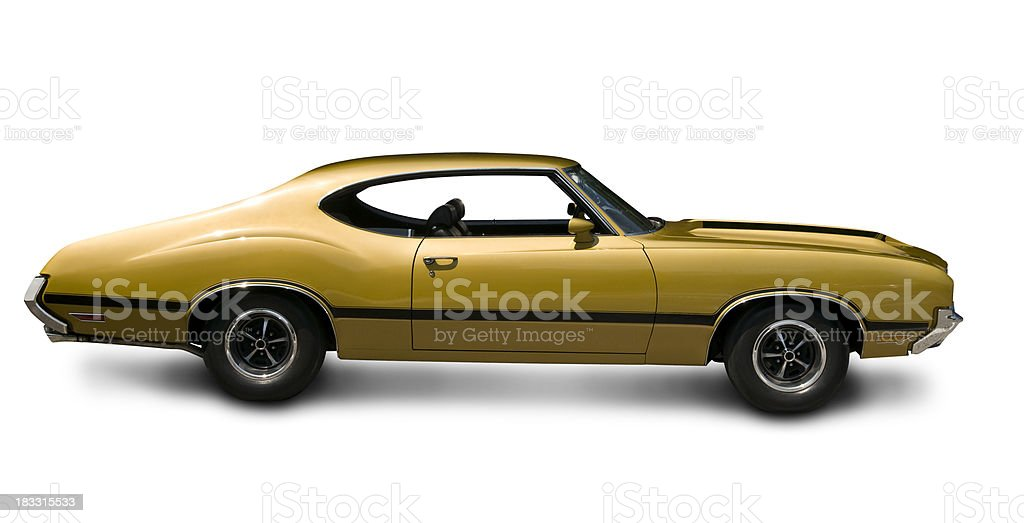 Gold Oldsmobile 442 Muscle Car Side View Stock Photo More Pictures