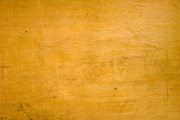 Gold on Wood stock photo