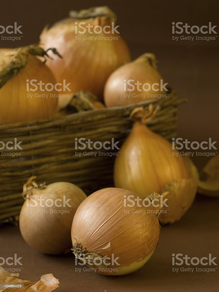 Gold onions royalty-free stock photo