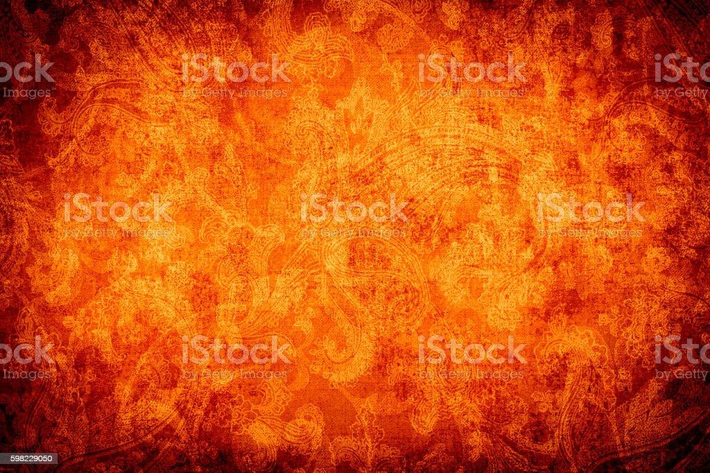 Ouro Abtract Fundo laranja foto royalty-free