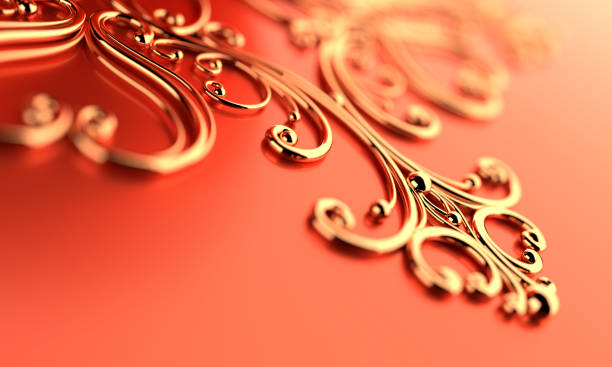 gold ornament - filigree stock photos and pictures