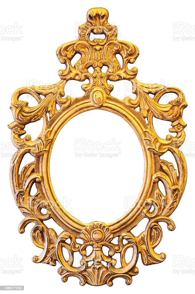 Gold Ornate Oval Frame Stock Photo & More Pictures of Aging Process ...