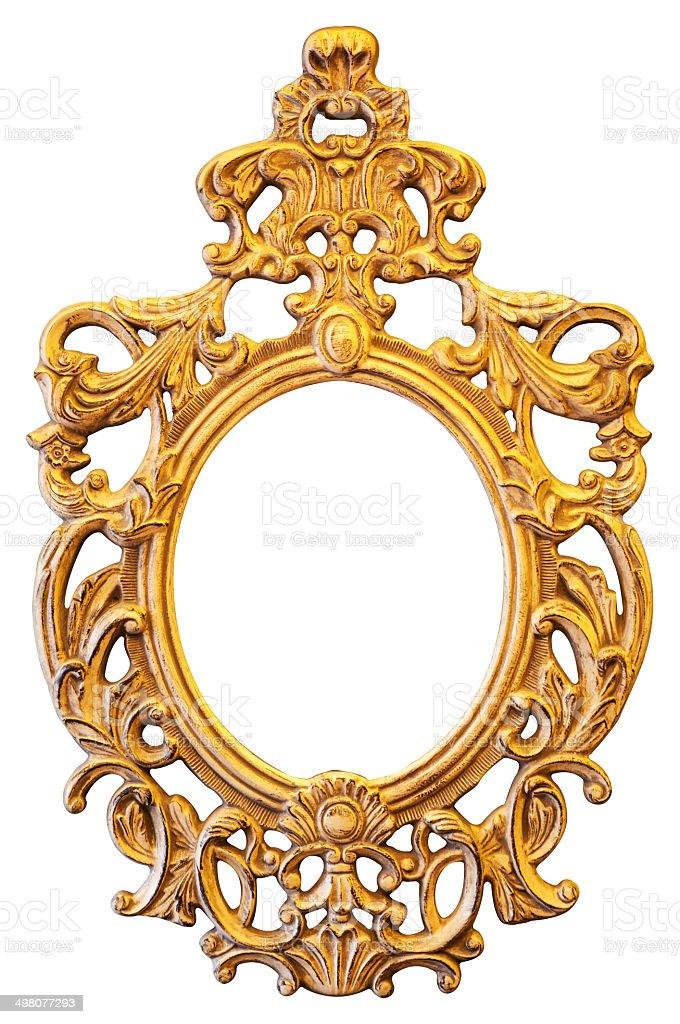 Marco Adornado De Oro Oval - Fotografía de stock y más imágenes de ...