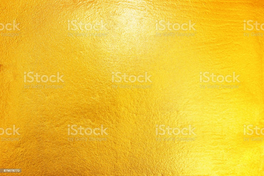 gold painted on cement and concrete texture for pattern and background stock photo