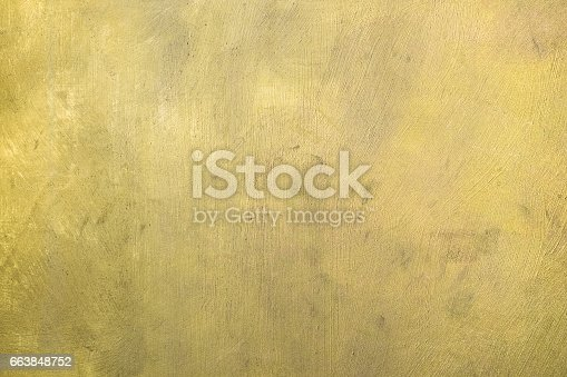 istock Gold painted surface. Background 663848752