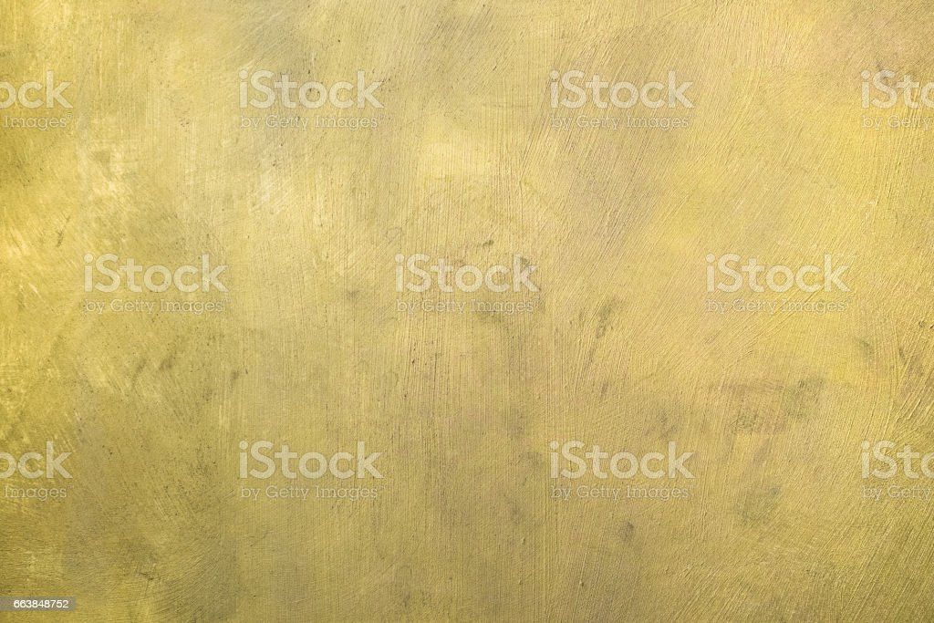 Gold painted surface. Background stock photo