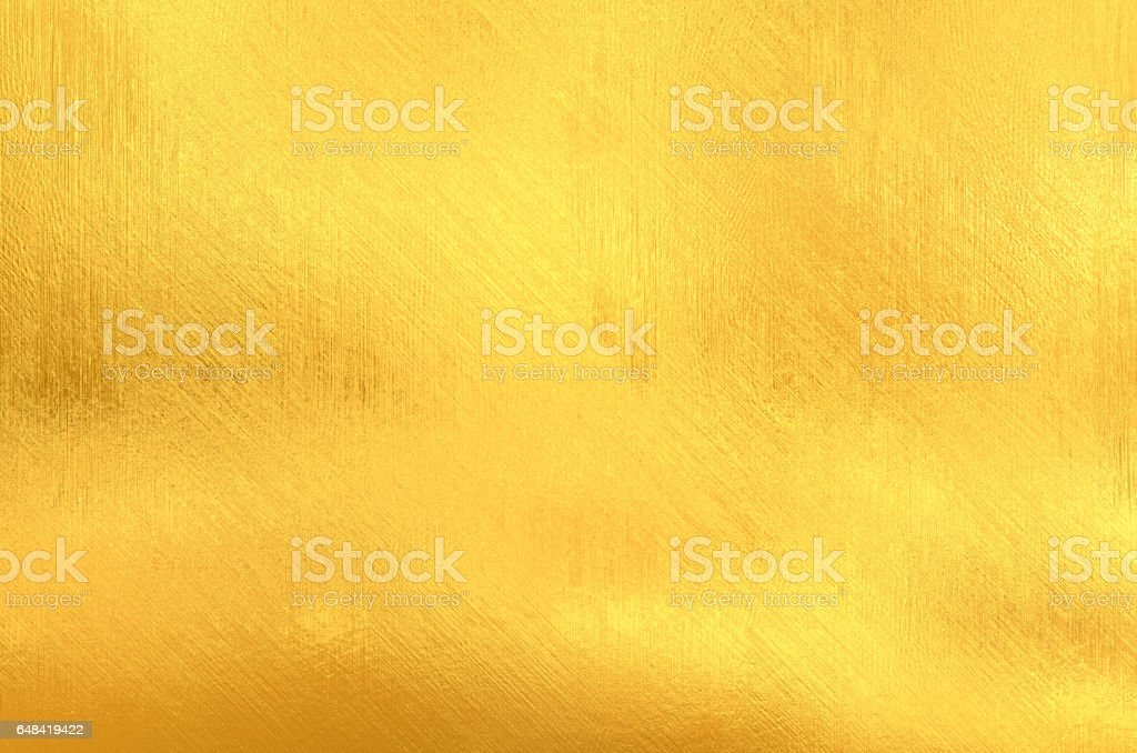 Gold painted surface stock photo