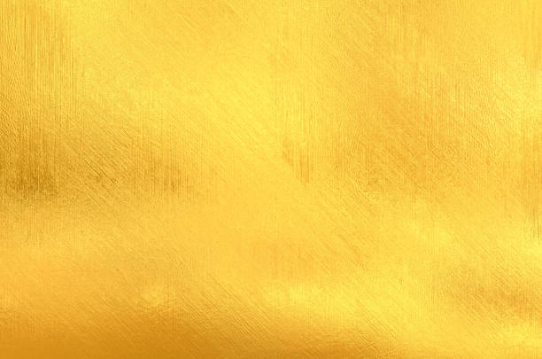 gold painted surface - foil stock photos and pictures