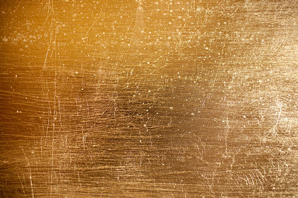 Gold painted texture stock photo