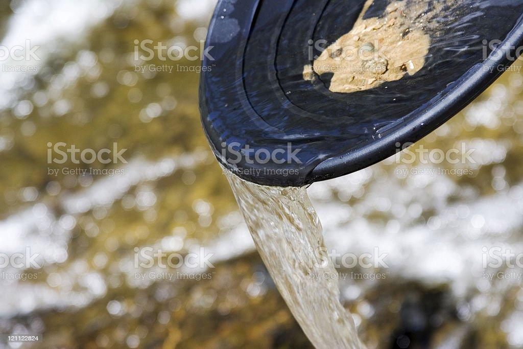 gold pan stock photo