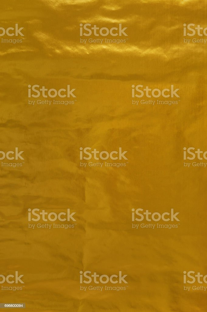 Gold Paper creased texture background stock photo
