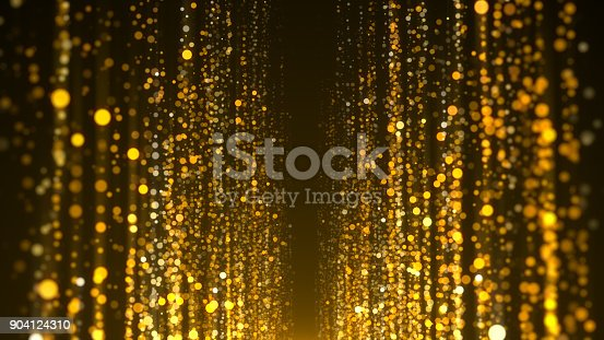 istock Gold particles awards background 904124310