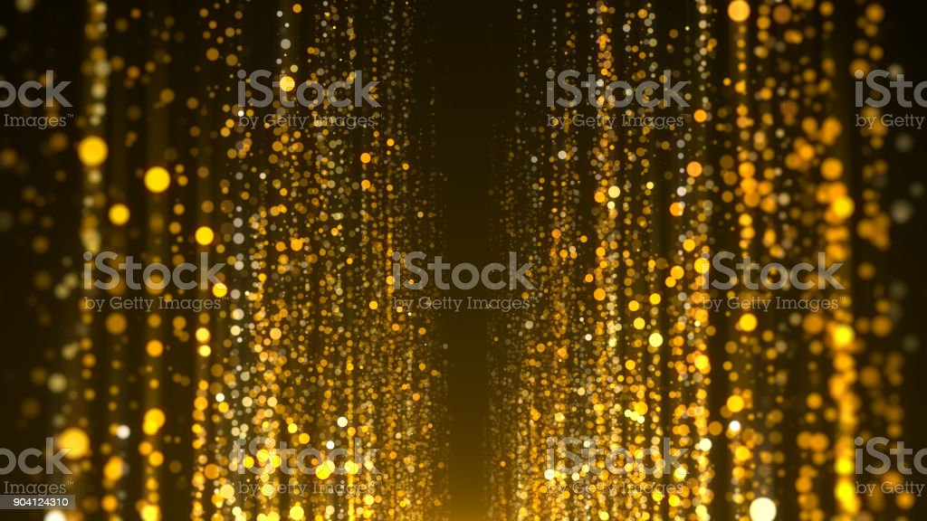 Gold particles awards background stock photo