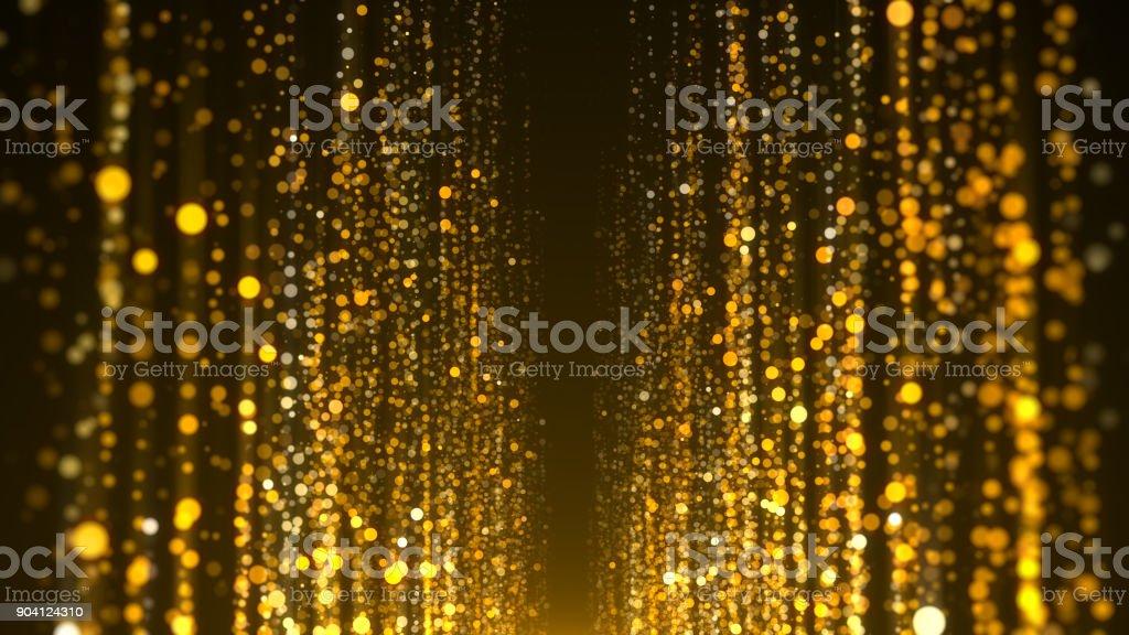 Goldpartikel Auszeichnungen Hintergrund – Foto