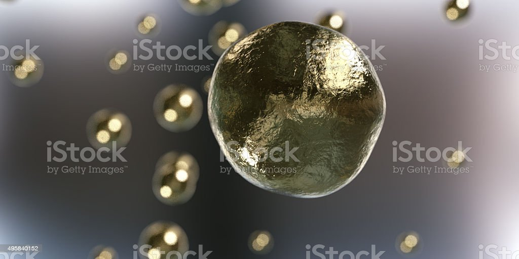gold particles stock photo