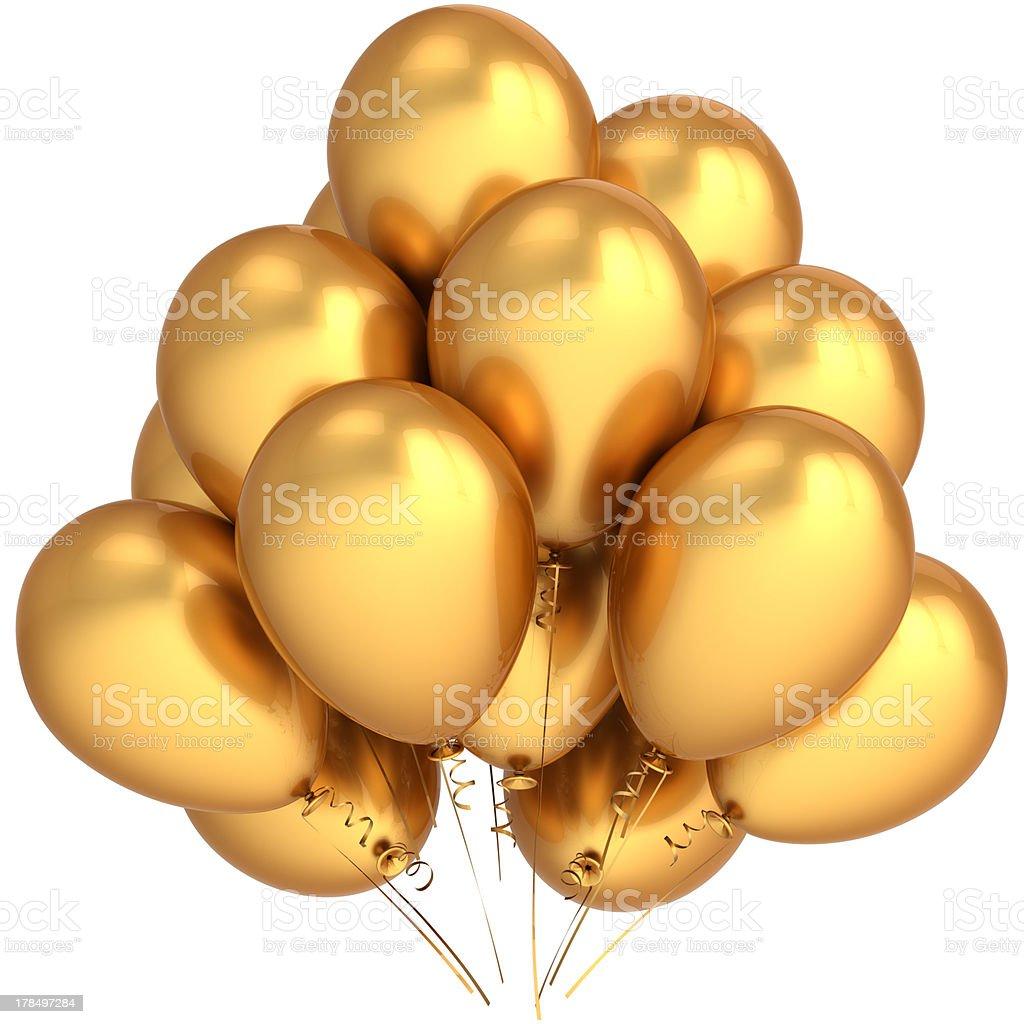 Fiesta de cumpleaños globos de oro decoración de lujo - foto de stock