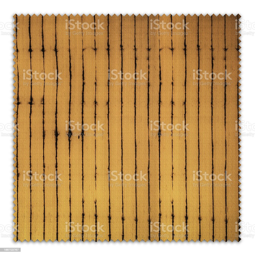 Gold Patterned Fabric Swatch (Clipping Path) royalty-free stock photo