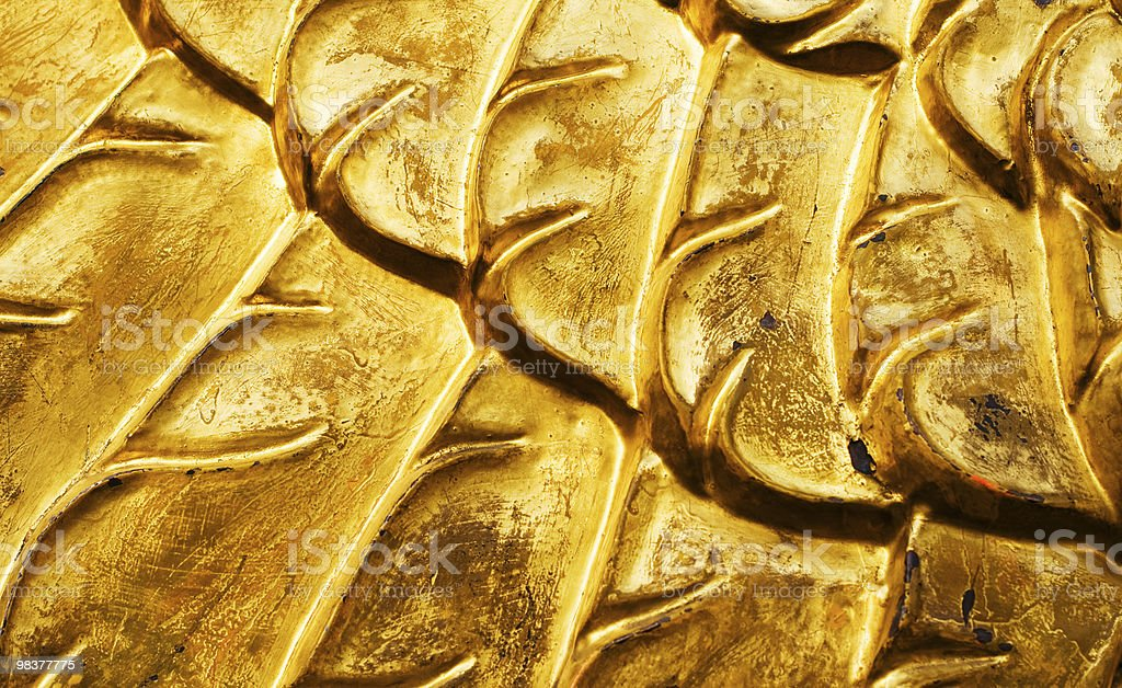gold patterns royalty-free stock photo