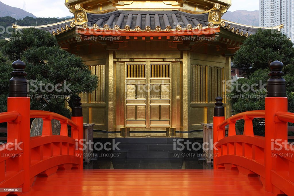 Gold Pavilion royalty-free stock photo