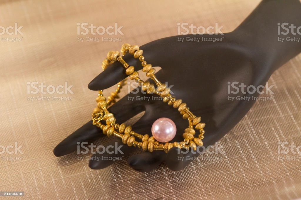gold & pearl stock photo