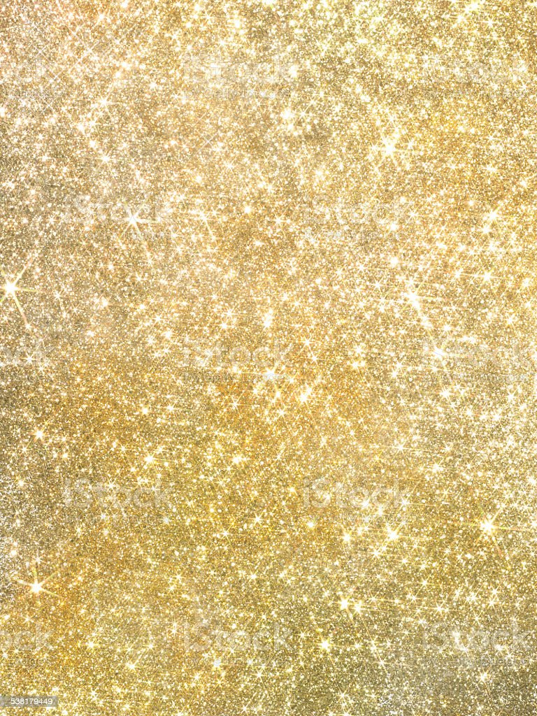 Gold pearl sequins, shiny glitter background stock photo