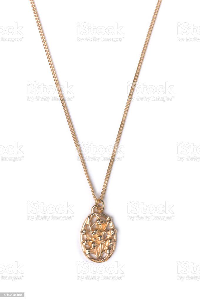 Gold Pendant stock photo