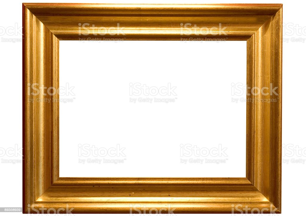 Oro cornice 2 foto stock royalty-free