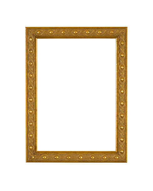 Royalty Free Picture Frame Moulding In Art Deco Style White Isolated