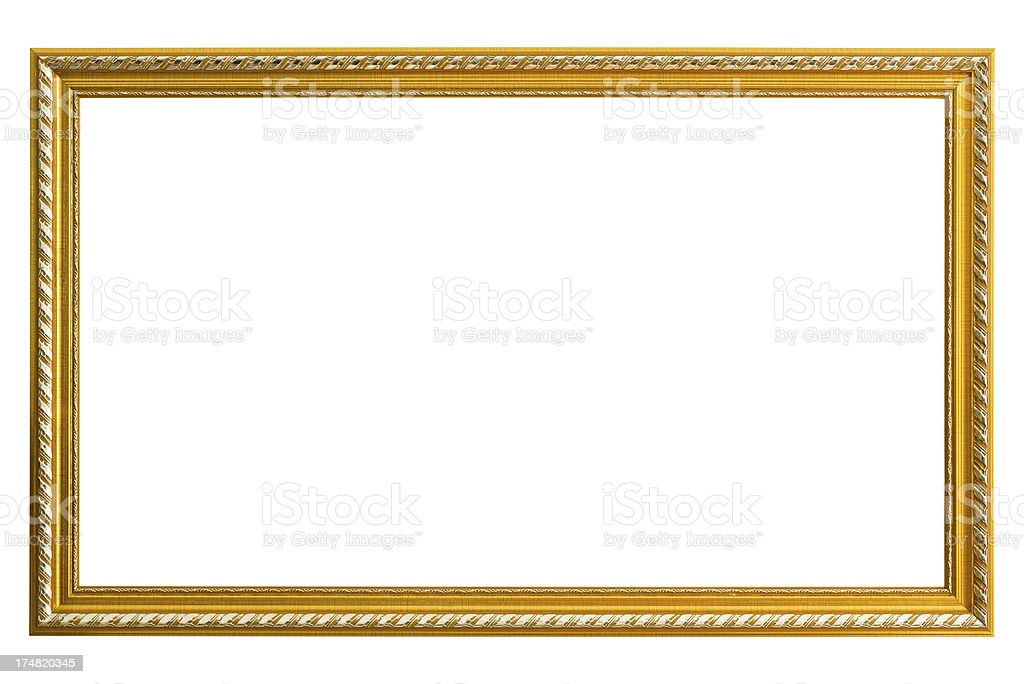 Gold Picture Frame royalty-free stock photo