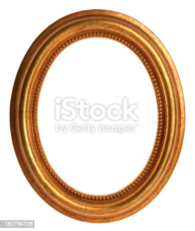 istock Gold Picture Frame 182794728