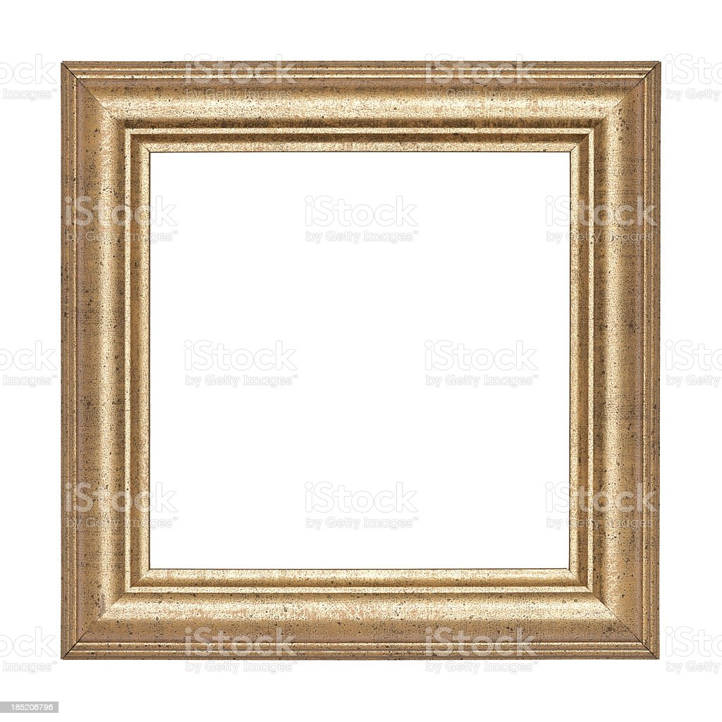 XL Gold picture frame stock photo