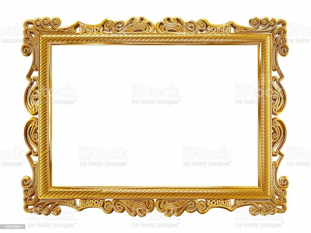 Золото Фоторамка - Стоковые фото Антиквариат роялти-фри