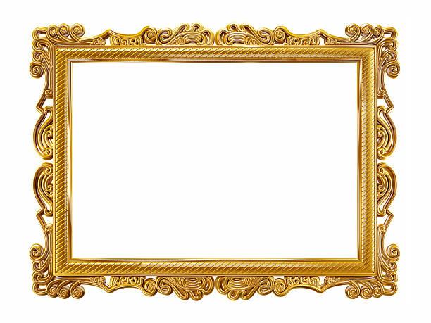 cornice oro - intelaiatura foto e immagini stock