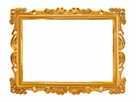 Золото Фоторамка — стоковые фотографии и другие картинки Антиквариат