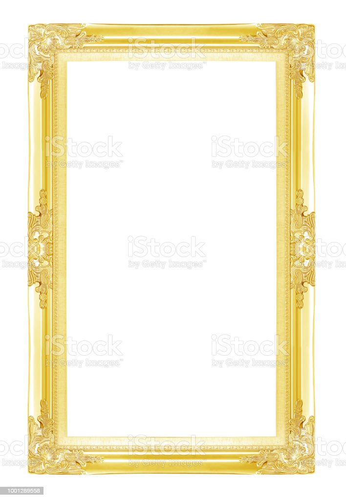 Gold Picture Frames Isolated On White Background Stock Photo & More ...