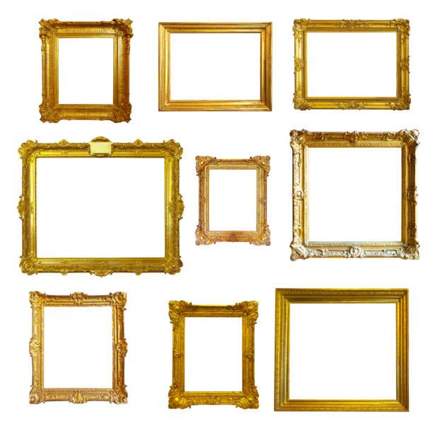 cornici d'oro - intelaiatura foto e immagini stock
