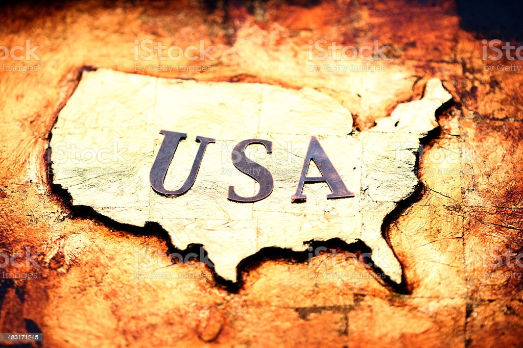 USA Gold royalty-free stock photo