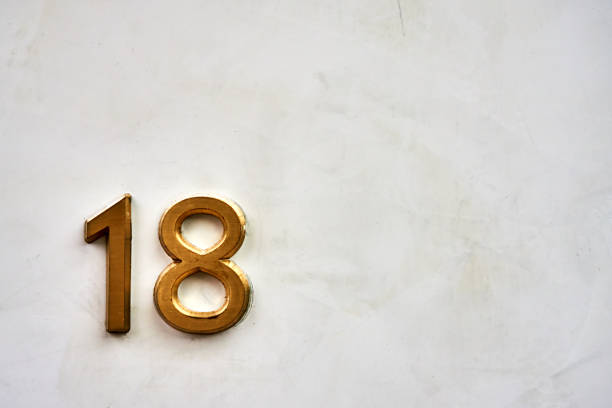 gold - number 18 stock photos and pictures