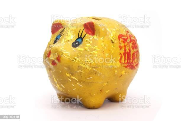 Guld Spargris På Vit Bakgrund-foton och fler bilder på Bankväsen
