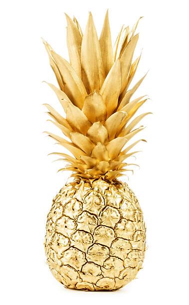 Gold pineapple stock photo