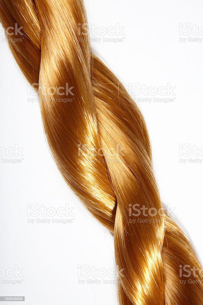 Gold plait stock photo