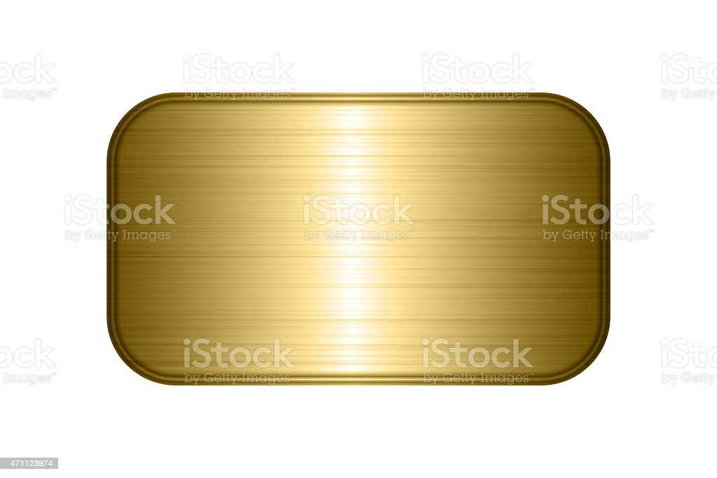 gold plate background stock photo