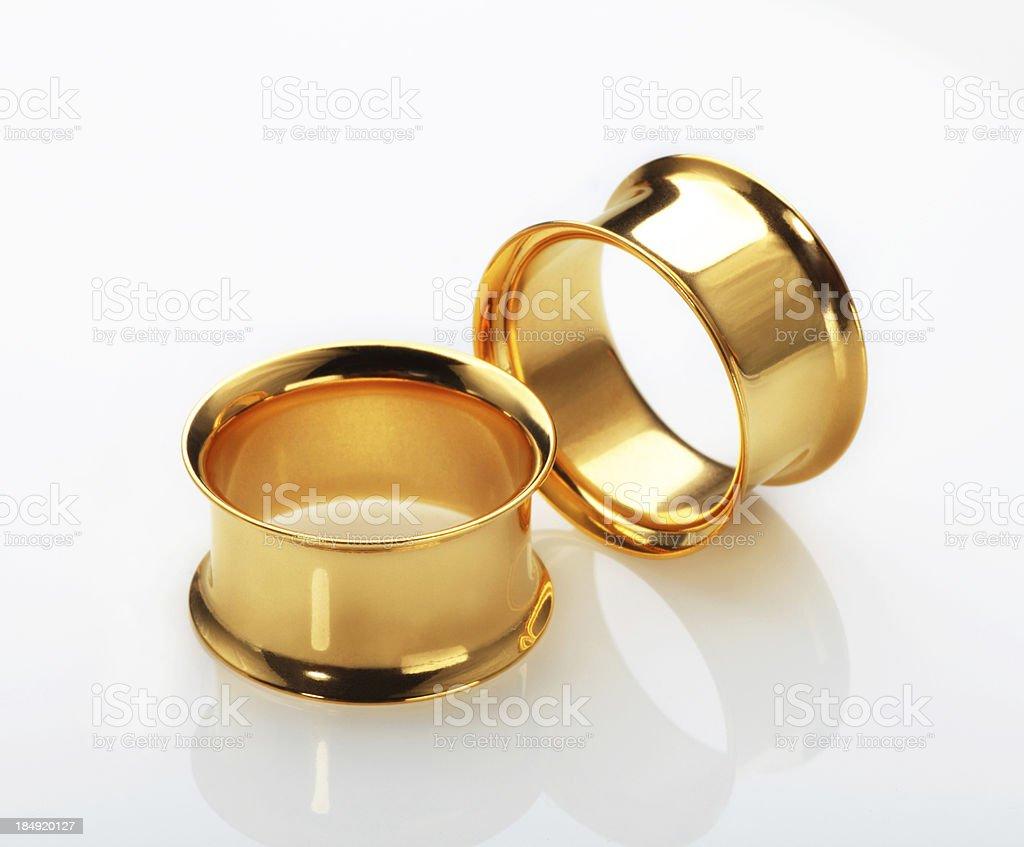 Gold Plated Plug stock photo