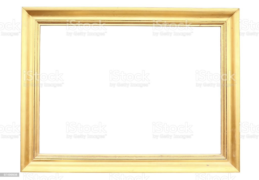 Gold plated wooden picture frame royalty-free stock photo
